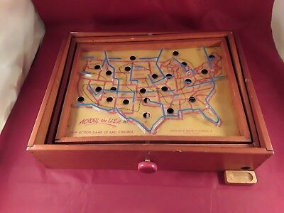 "Vintage "" Across The U.S.A. "" Ball Control Game."