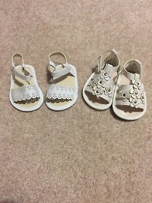 Baby Girl Sandels 0-3 Months Gymboree And Childrens Place 2 Pair