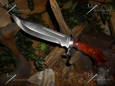 Ridge runner/Bowie/Knife/Full tang stainless steel/Wood grip/Combat/Survival