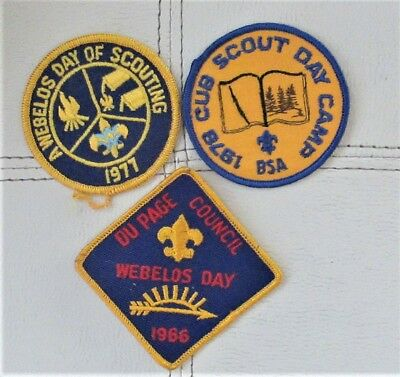 3 Boy Scouts Of America Patches-2 Webelos And 1 1978 Cub Scout Patch