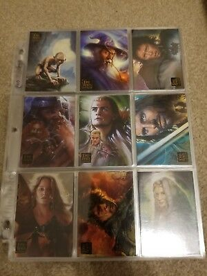 Lord of the Rings Topps 90 Card Set | Lord of the Rings Masterpieces