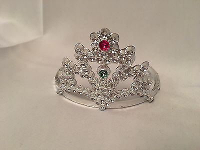 """Doll Princess Tiara Crown fits 18"""" American Doll, Silver for Girl Clothes"""