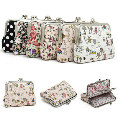 CA Portable Kawaii Women Canvas Coin Purse Mini Card Holder Wallet Pouch Bags