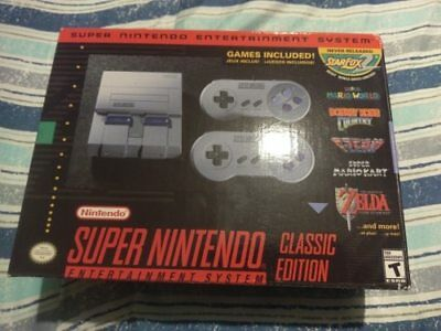 BRAND NEW! Super Nintendo Entertainment System Classic Edition (SNES)