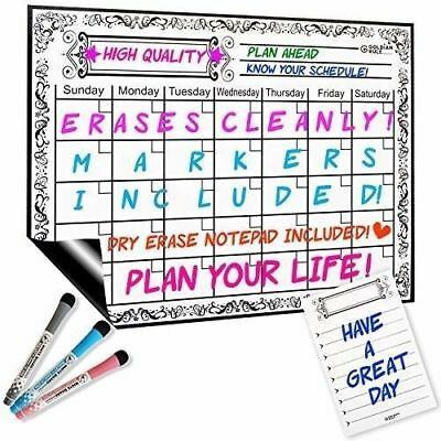 Dry Erase Calendar for Fridge | Magnetic Monthly Whiteboard Calendar [E]