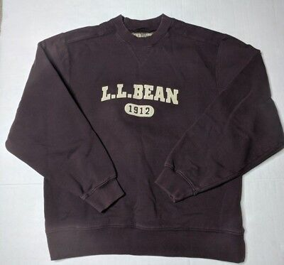 LL Bean 1912 Embroidered Spell Out Crewneck Sweatshirt Mens Sz M