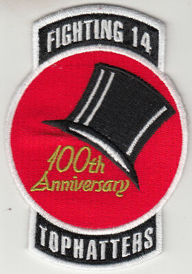 VFA-14 TOPHATTERS 100th ANNIVERSARY  PATCH