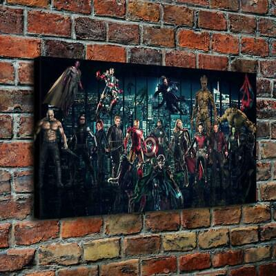 Dc Extended Vs Marvel Home Decor Room HD Canvas Print Picture Wall Art Painting