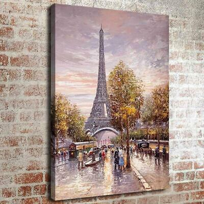 Abstract Paris Eiffel Tower Home Decor HD Canvas Print Picture Wall Art Painting