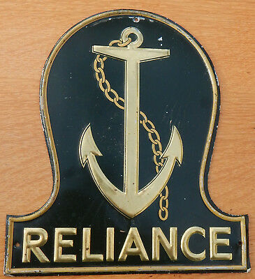 'RELIANCE' Insurance Company FIREMARK Genuine Vintage FIRE MARK