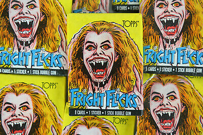 Topps Fright Flicks Trading Cards, ONE Wax Pack, Fright Night, 1988