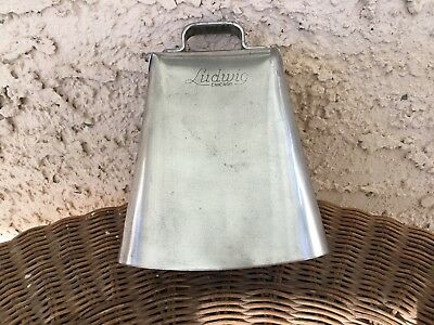 LUDWIG COWBELL estimated 1960's! NO RUST!!! CLEANEST COWBELL ON EBAY!!!