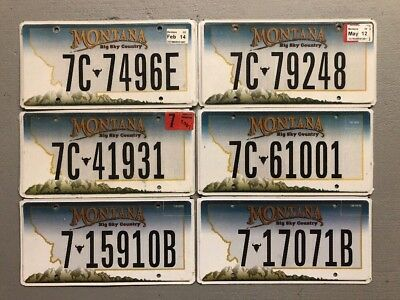 One Montana Big Sky Country License Plate Random Letters/numbers Free Shipping!!
