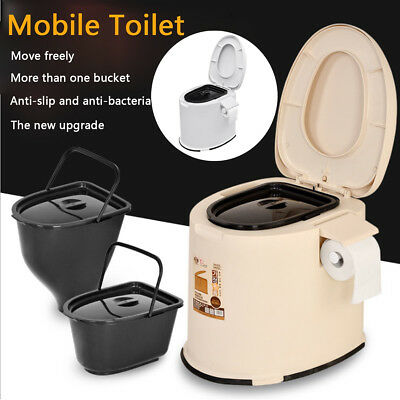 12L Portable Toilet Lavatory Potty Travel Camping Outdoor/Indoor Concise Commode