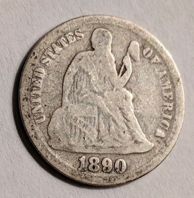 1890 Seated Liberty Dime!