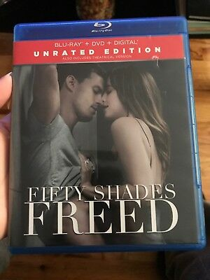 "Fifty Shades Freed "" Unrated"" (Blu-ray / DVD 2-Disc Set, No Digital!)"