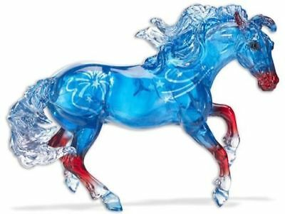 Breyer ILLUMINATION Nokota 2018 LE Mustang Clearware in Red White Blue