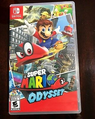 Super Mario Odyssey (Nintendo Switch, 2017) Complete with Cartridge Case & Cover