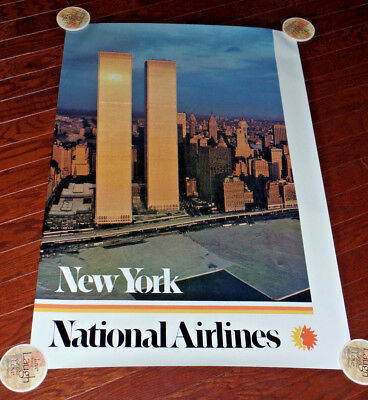 National Airlines Poster To New York World Trade Center