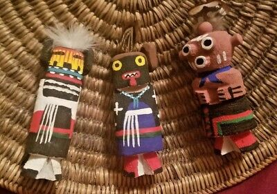 Three Vintage Route 66 Kachina Dolls Native American Indian