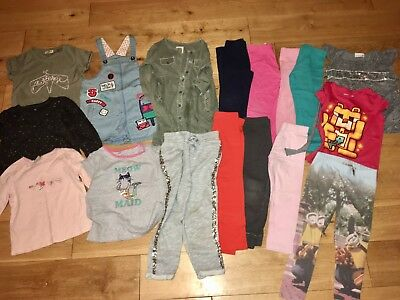 Girls Age 4-5 Years Playwear Bundle Mostly Next Pinafore Dress Leggings