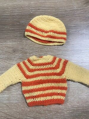 "Handmade Outfit set For Dianna Effner 13"" Little Darling Dolls sweater hat cutie"