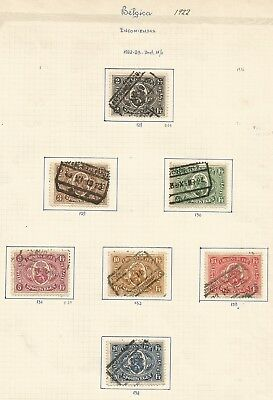 Scarce 1922 BELGIUM RAILWAY STAMPS on old page ,ref17/ 71
