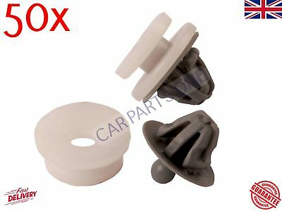 50X Interior Trim Panel and Door Card Clips For Renault Clio Trafic Megane