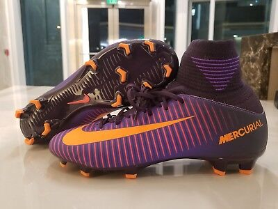 detailed pictures 572af 62f0a Nike JR Mercurial SuperFly V 5 FG Soccer Cleats Purple Dynasty Citrus 831943 -585