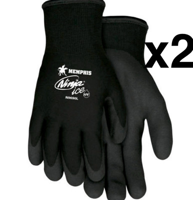 Memphis N9690 Ninja Ice Insulated Cold Weather Gloves Size XXL 2XL (2 PK)