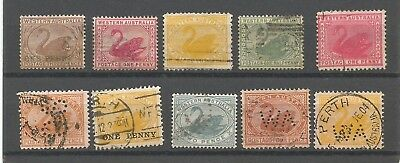 B/24 WEST AUSTRALIAN  SWANS  as scan includes one penny O/P on 3d brown