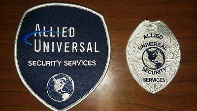 NEW Allied universal Security services shoulder patch and Badge chest patch/