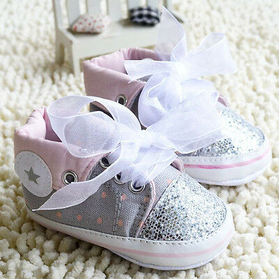 Infant Baby Girl Lace straps Crib Shoes Sports shoes Soft Soles  0-18 Months/M