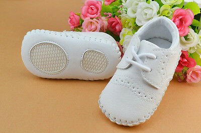 Baby Boy White Sneakers Soft Sole Crib Shoes Size Newborn to 12 Months /M
