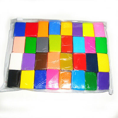 32pcs Polymer Clay  DIY Colored Clay Soft Molded Oven Baking Modelling Clay