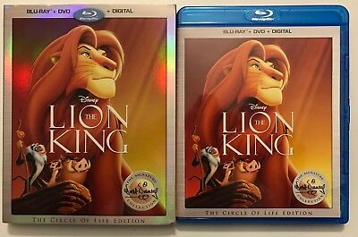 Disney The Lion King Blu Ray Dvd 2 Disc + Slipcover Sleeve Signature Collection
