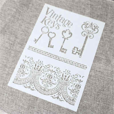 key layering stencil for wall painting scrapbook stamping stamp album decor##