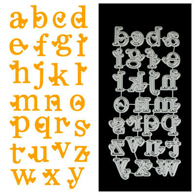 Lowercase Letters Love Metal Cutting Dies For DIY Scrapbook Album Paper Card##