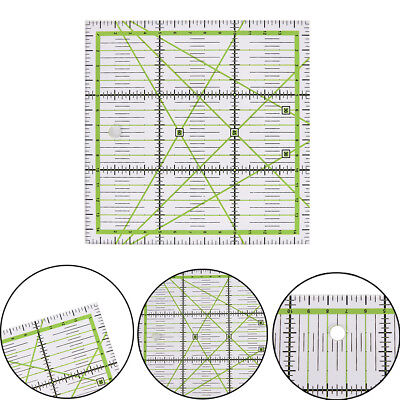 15*15cm Transparent clear quilting sewing patchwork ruler cutting tool tailor##