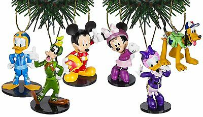 Disney Mickey and the Roadster Racers Christmas Ornaments 6pc Set Minnie, Daisy,