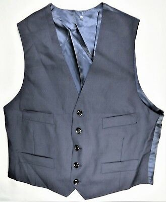 Indochino Mens Dress Vest Slim 40 R Navy Formal Business Wool Suit Waistcoat NEW