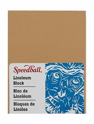 Speedball 4305 Premium Mounted Linoleum Block – Fine, Flat Surface for Easy