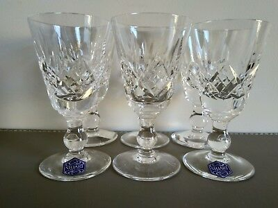 Stuart Crystal Vintage Sherry Glasses hand made Great Britain set of 6