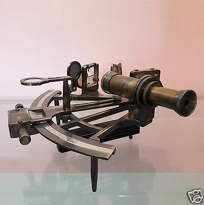 Antique Nautical Sextant Brass Vintage United Collectible Decorative Gift