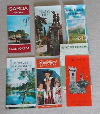 7 X VINTAGE TOURIST MAPS AND BROCHURES - ITALY - 1960s