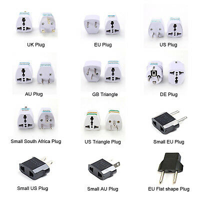 UK Travel Plug 3-Pin To EU European Euro Europe 2-Pin Socket Converter Adapter H