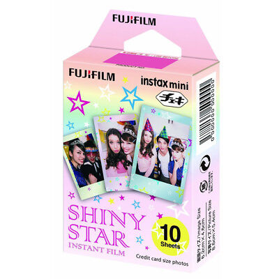 Fujifilm Instax Mini 10 Sheets Shiny Star For Fuji 7s 8 9 70 Instant Film Camera