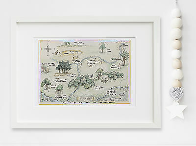 Winnie the Pooh 100 Acre Woods Baby/Child Nursery Print Picture UNFRAMED