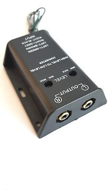 Speaker to RCA Converter - High to Low Line Level Cable