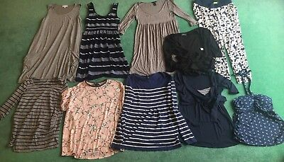 maternity clothes size 10/12 bundle Topshop Isabella Oliver Tops Jumper Trousers